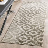 Safavieh Porcello Contemporary Moroccan Grey/ Ivory Rug - 2'4 x 6'7