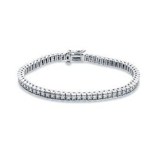 Auriya 14k White Gold 2ct TDW Round Diamond Tennis Bracelet (G-H, SI1-SI2)