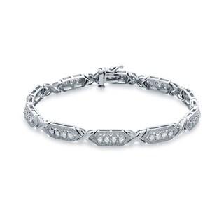 Auriya 14k White Gold 1ct TDW Round Cut Diamond Bracelet (H-I, I2-I3)