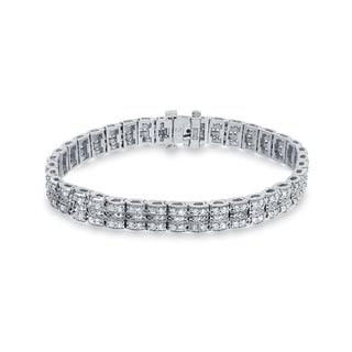 Auriya 14k White Gold 3ct TDW Round Diamond Bracelet (H-I, SI1-SI2)