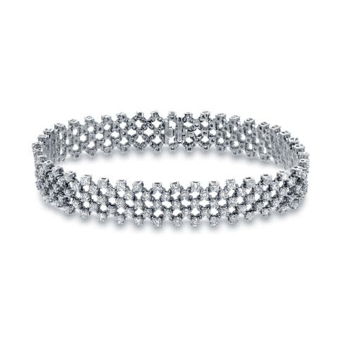 Auriya 6 carat TW Modern Diamond Bracelet 14k White Gold - 7-inch