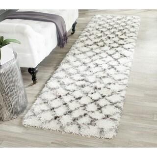 Safavieh Moroccan Shag Ivory/ Grey Rug (2'3 x 6')