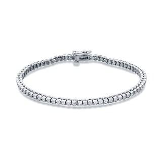 Auriya 14k White Gold 2ct TDW Round Diamond Tennis Bracelet (H-I, I1-I2)