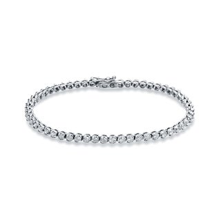 Auriya 18k White Gold 2 3/4ct TDW Round Cut Diamond Tennis Bracelet (H-I, SI2-SI3)