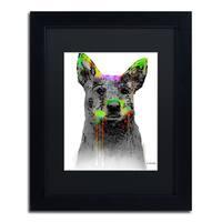 Marlene Watson 'Cattle Dog' Black Matte, Black Framed Wall Art