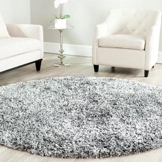 Safavieh Handmade Malibu Shag Silver Polyester Rug (5' Round)