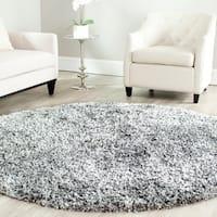 Safavieh Handmade Malibu Shag Silver Polyester Rug - 5' Round