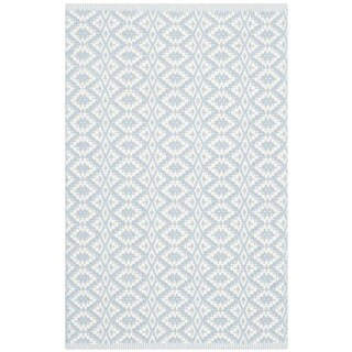 Safavieh Hand-Woven Montauk Ivory/ Light Blue Cotton Rug (2'3 x 3'9)