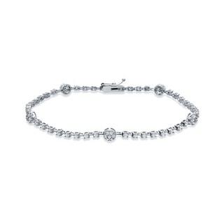 Auriya 14k White Gold 1 1/2ct TDW Round Diamond Bracelet (I-J, I1-I2)