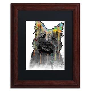 Marlene Watson 'Cairn Terrier' Black Matte, Wood Framed Wall Art
