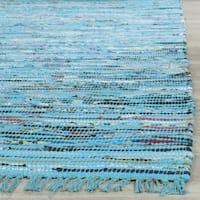 Safavieh Hand-Woven Rag Turquoise/ Multi Cotton Rug - 2'3 x 3'9