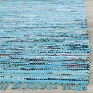 Safavieh Hand-Woven Rag Turquoise/ Multi Cotton Rug (2'3 x 3'9) - 2'3 x 3'9