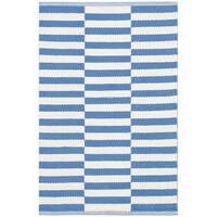 Safavieh Hand-Woven Montauk Ivory/ Blue Cotton Rug - 2'3 x 3'9