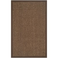 Safavieh Casual Natural Fiber Handmade Brown / Brown Sisal Rug - 2' x 4'