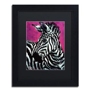Lowell S.V. Devin 'Abrica-Zebra' Black Matte, Black Framed Wall Art