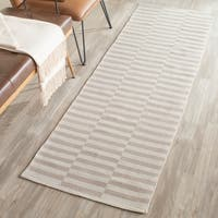 Safavieh Hand-Woven Montauk Ivory/ Light Grey Cotton Rug - 2' x 5'
