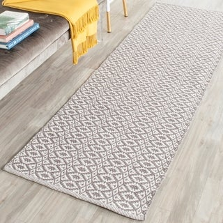 Safavieh Hand-Woven Montauk Ivory/ Grey Cotton Rug (2' x 5')