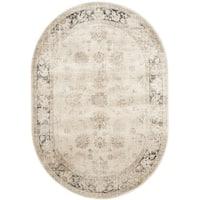 "Safavieh Vintage Oriental Stone Distressed Silky Viscose Rug - 5'3"" x 7'6"" Oval"