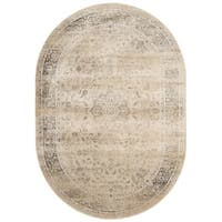 Safavieh Vintage Oriental Warm Beige Distressed Silky Viscose Rug - 5' oval