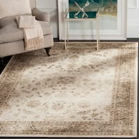 """Safavieh Vintage Oriental Stone/ Mouse Brown Distressed Silky Viscose Rug - 5'3"""" x 7'6"""" oval"""