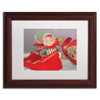 Patty Tuggle 'Dreams of Xmas' White Matte, Wood Framed Wall Art