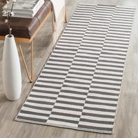 Safavieh Hand-Woven Montauk Ivory/ Grey Cotton Rug - 2' x 5'