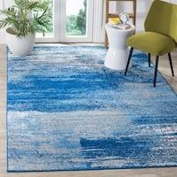 Safavieh Adirondack Modern Abstract Silver/ Blue Rug - 2'6 x 4'