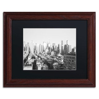 Ariane Moshayedi 'City IV' Black Matte, Wood Framed Wall Art