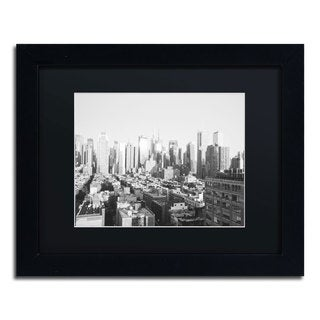 Ariane Moshayedi 'City IV' Black Matte, Black Framed Wall Art