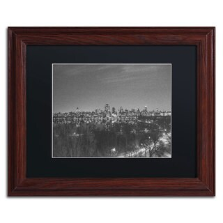 Ariane Moshayedi 'City From A Far II' Black Matte, Wood Framed Wall Art