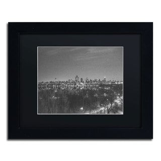 Ariane Moshayedi 'City From A Far II' Black Matte, Black Framed Wall Art