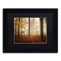 Philippe Sainte-Laudy 'Calmness' Black Matte, Black Framed Wall Art