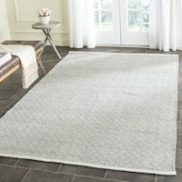 Safavieh Hand-Tufted Boston Grey Cotton Rug - 4' Square