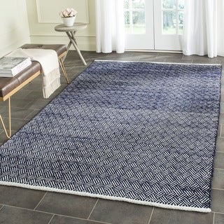 Safavieh Hand-Tufted Boston Navy Cotton Rug (4' Square)