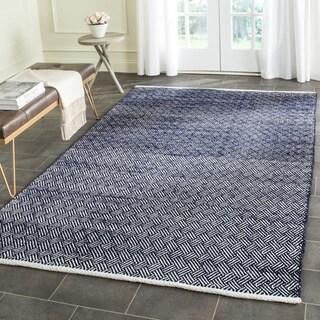 Safavieh Hand-Tufted Boston Navy Cotton Rug (4' Square)