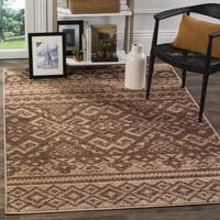 Safavieh Adirondack Southwestern Camel/ Chocolate Brown Rug - 4' Square