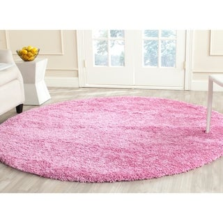 Safavieh California Cozy Plush Pink Shag Rug (4' x 4' Round)