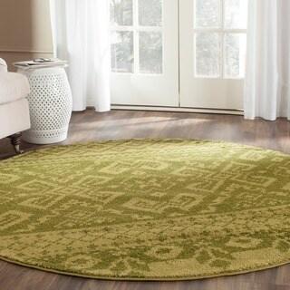 Safavieh Adirondack Green/ Dark Green Rug (4' x 4' Round)
