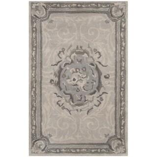Safavieh Handmade Empire Beige/ Light Grey Wool Rug (2'6 x 4')