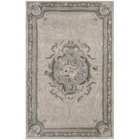 Safavieh Handmade Empire Beige/ Light Grey Wool Rug - 2'6 x 4'
