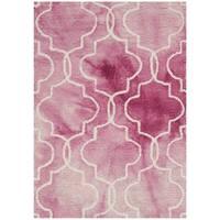 Safavieh Handmade Dip Dye Watercolor Vintage Rose/ Ivory Wool Rug (2' x 3')
