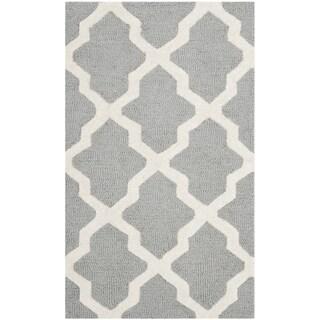 Safavieh Handmade Cambridge Silver/ Ivory Wool Rug (2' x 3'4)