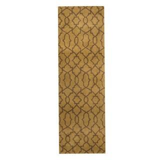 Herat Oriental Indo Hand-tufted Tibetan Wool Runner - 2'6 x 8