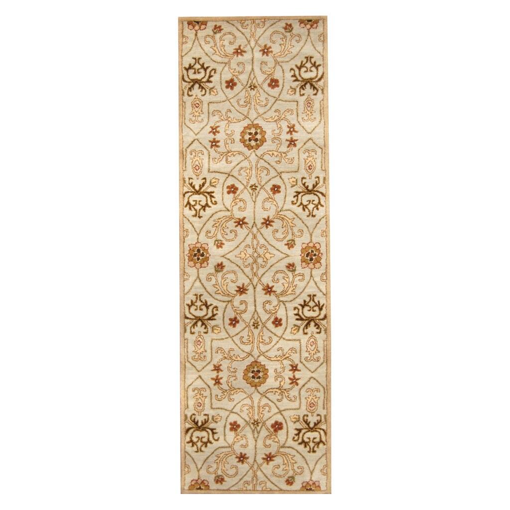 Herat Oriental Indo Hand-tufted Tibetan Wool Runner (2'6 ...