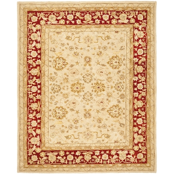 Safavieh Handmade Anatolia Oriental Ivory/ Red Hand-spun Wool Rug (11' x 15')