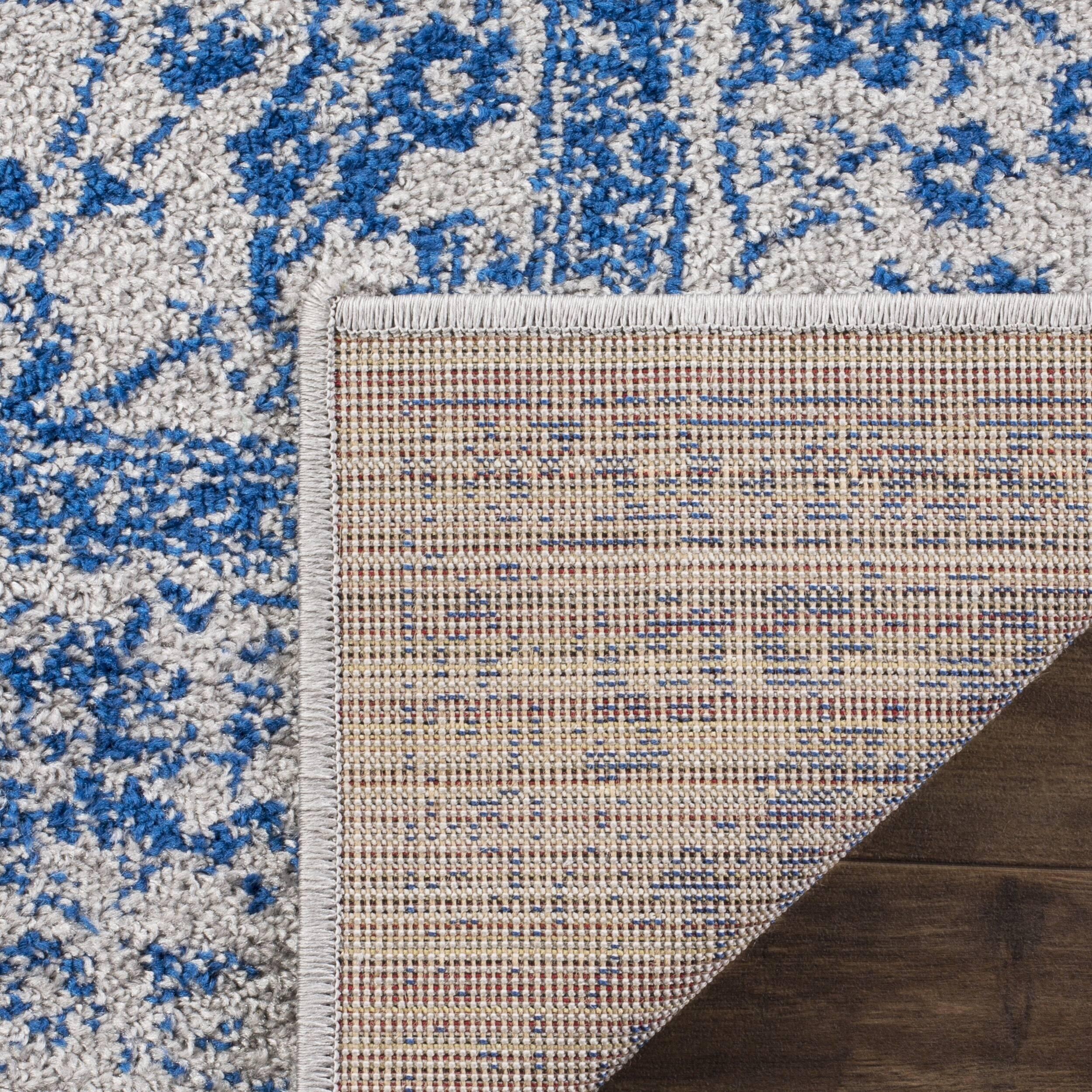 Safavieh Adirondack Vintage Distressed Grey / Blue Large Area Rug (11' x 15')
