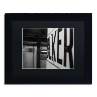 Yale Gurney 'Bleeker' Black Matte, Black Framed Wall Art