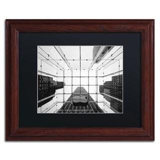 Nina Papiorek 'Big Apple I' Black Matte, Wood Framed Wall Art