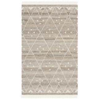 Safavieh Hand-Woven Natural Kilim Natural/ Ivory Wool Rug (2' x 3')