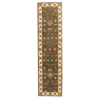 Herat Oriental Indo Hand-tufted Mahal Wool Runner (2'7 x 10')